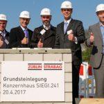 Grundstein für neue Zentrale gelegt