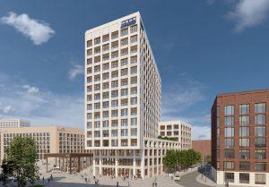 KPMG will 2024 in die MesseCity Köln umziehen: CENTRAAL heißt die exponierte Landmarke in zentraler Lage, die sich das Beratungsunternehmen sicherte.